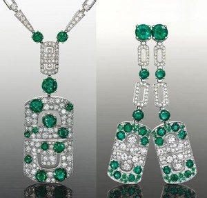 Emeraude et diamants