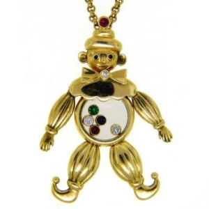 Pendentif clown happy diamond Chopard