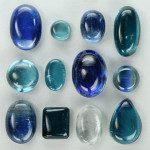 Disthènes plusieurs nuances de bleus
