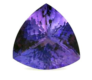 Tanzanite taillée violette