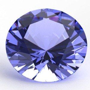 Tanzanite taillée bleue