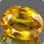 Saphir jaune orangé